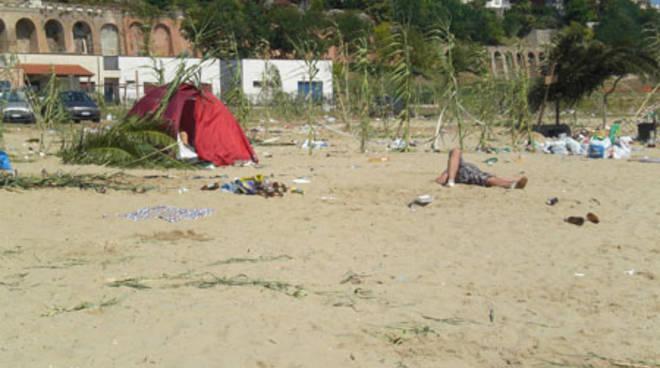 San Basso: lunga notte e spiaggia dopo i falo'