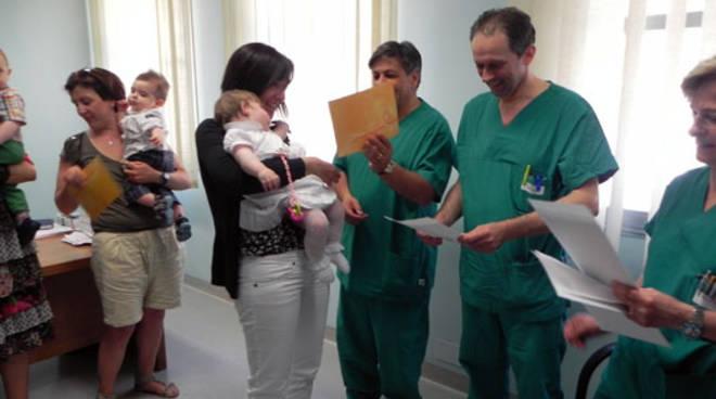 Donazione cordone ombelicale: consegna degli attestati