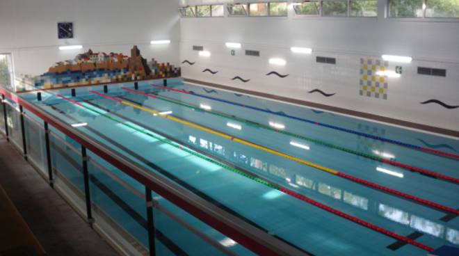La nuova piscina dopo i lavori