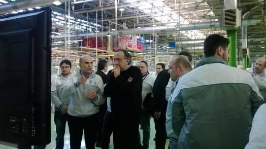 La visita di Sergio Marchionne in Fiat - Le immagini
