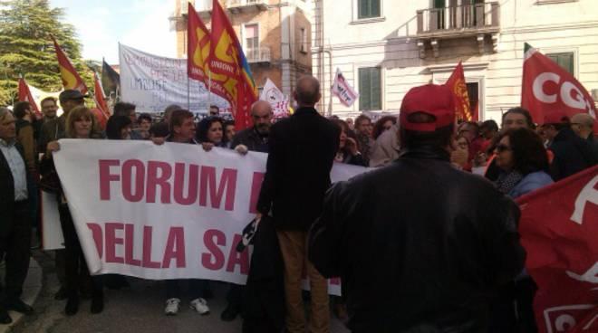 Sanità pubblica: la manifestazione