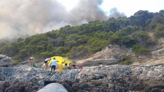 In fiamme le isole Tremiti