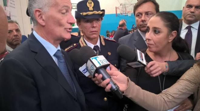 La visita del capo della Polizia Franco Gabrielli