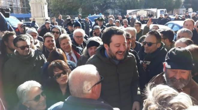 Il leader della Lega fa tappa a Campobasso