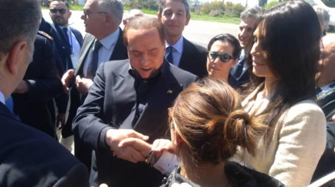 Silvio Berlusconi in visita a Termoli
