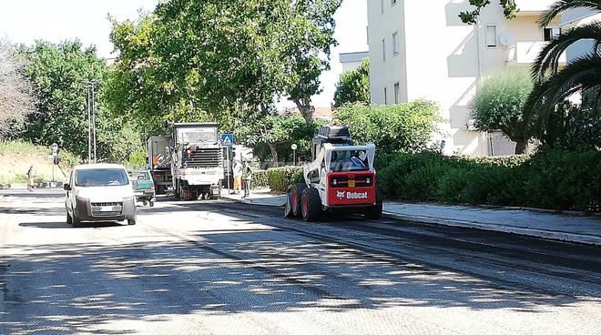 Rifacimento asfalto via Asia