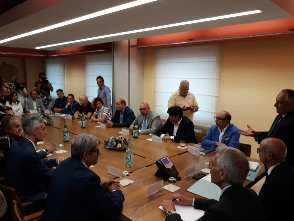 firma convenzione elettrificazione Campobasso Roma