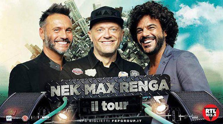 Nek, Max e Renga in concerto