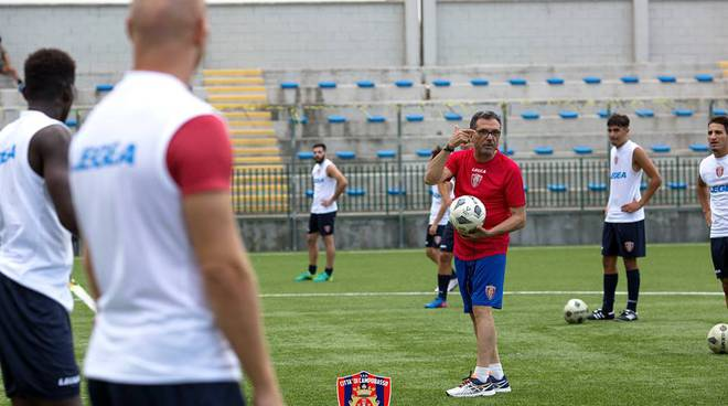 Campobasso calcio mister Bruno Mandragora
