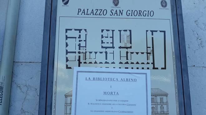 protesta per biblioteca Campobasso