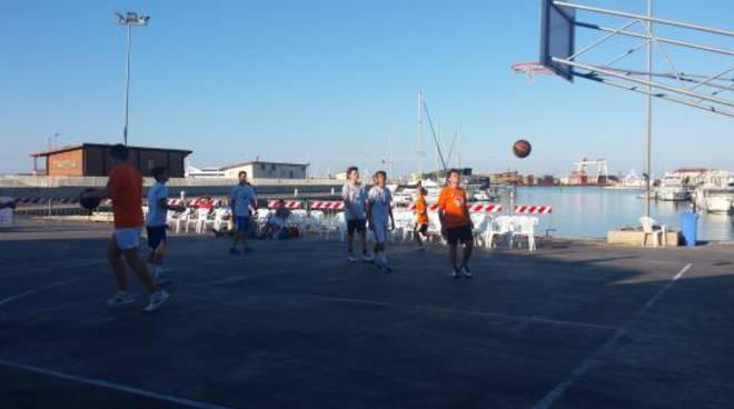 basket in banchina