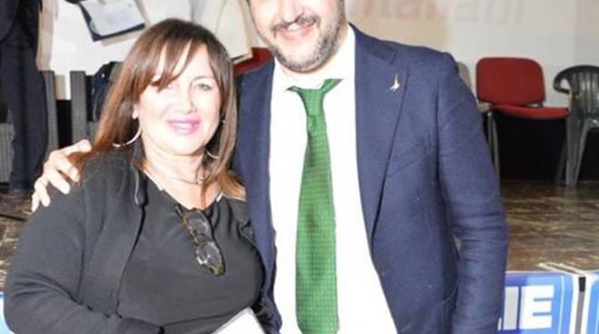 Filomena Calenda e Matteo Salvini
