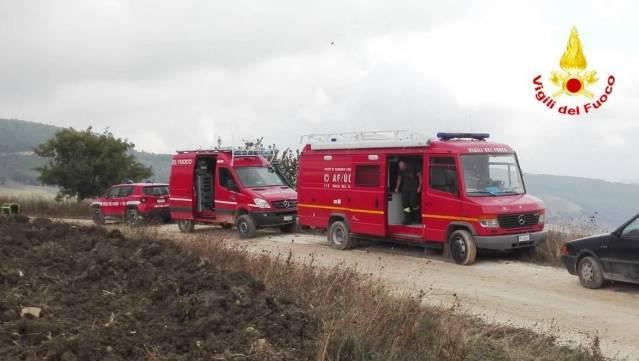 vigili del fuoco ricerca disperso