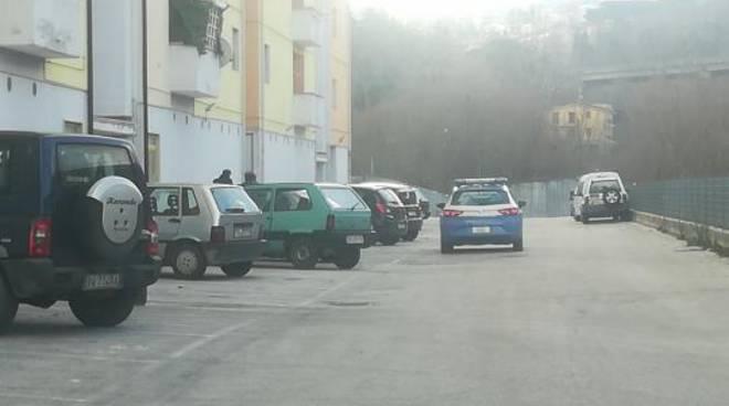 Polizia in via Quircio Campobasso