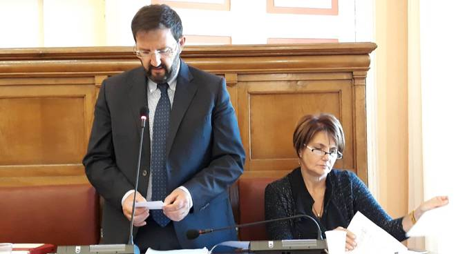Massimo Sabusco e Maripina Rubino Consiglio comunale Campobasso