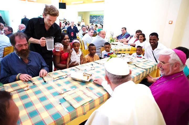 mensa dei poveri Papa Francesco