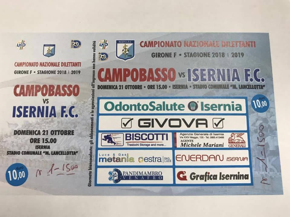 biglietto Isernia Cb