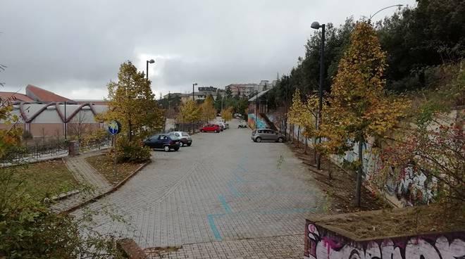 parcheggio viale Manzoni Campobasso risistemato