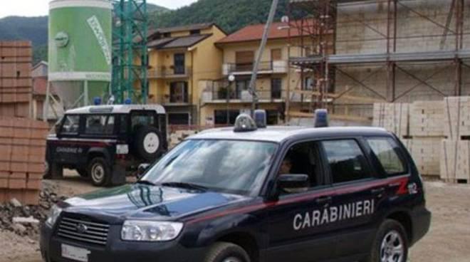 Carabinieri Isernia cantiere