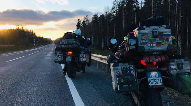 Viaggio in moto fino a circolo polare artico