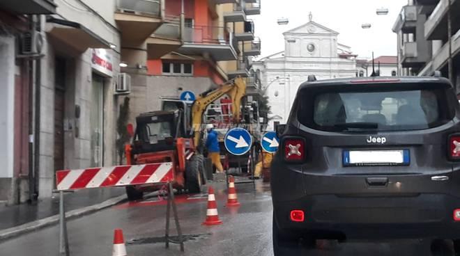 lavori in via Mazzini Campobasso