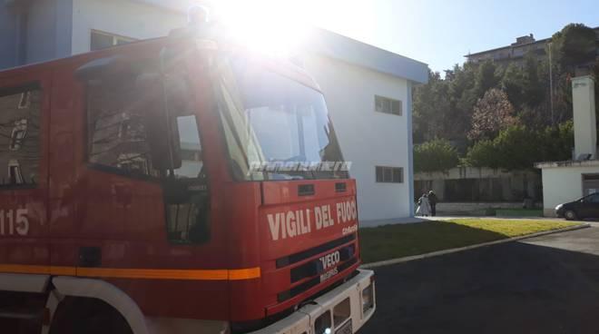 vigili del fuoco scuola Don Milani Campobasso