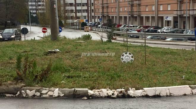 rotonda di via Lombardia Campobasso