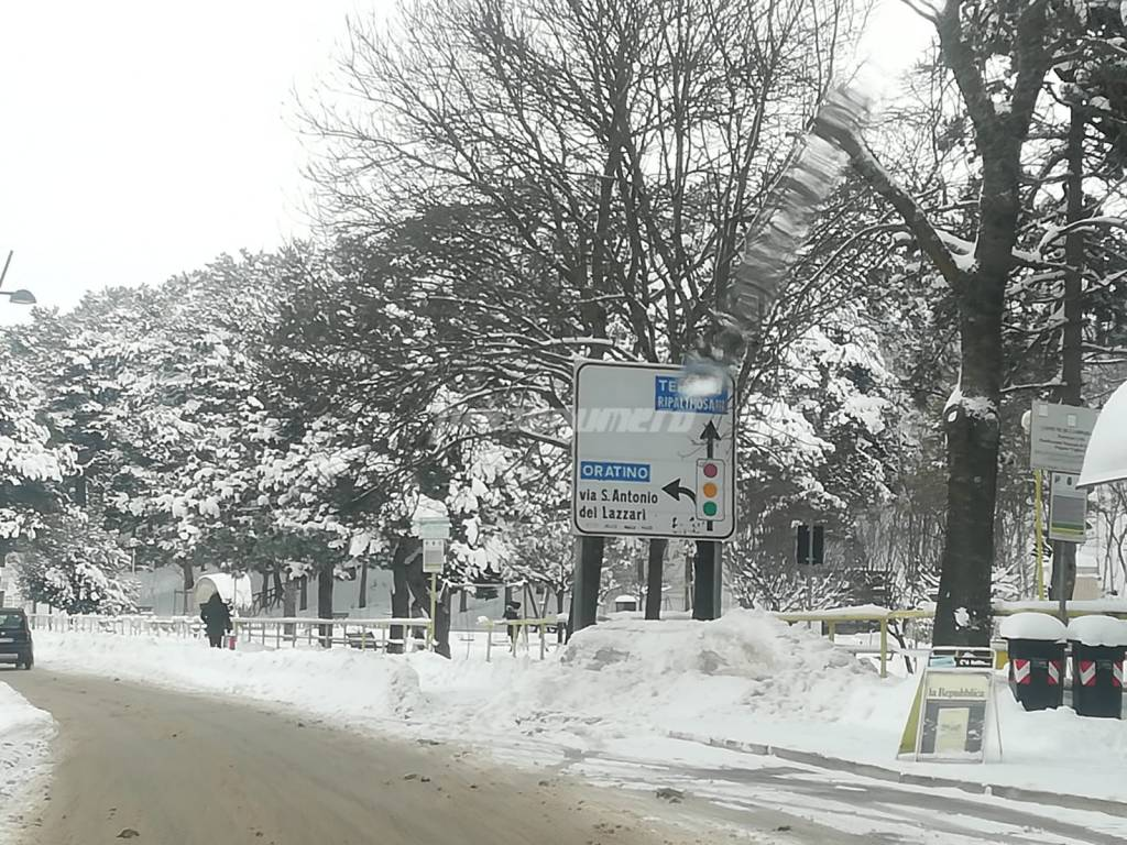 Campobasso sotto la neve 5 gennaio