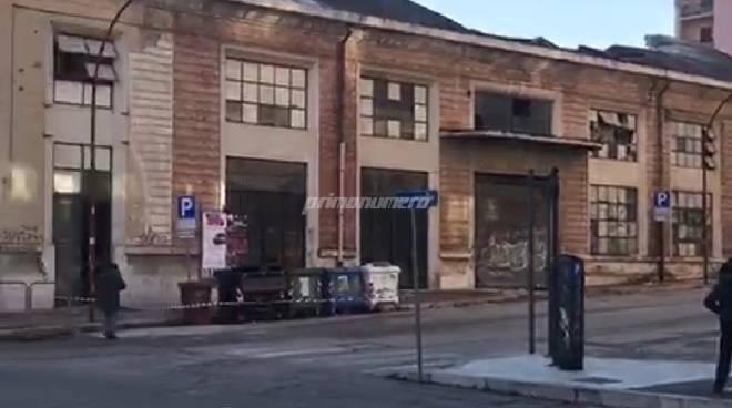 Deposito crollato a Campobasso