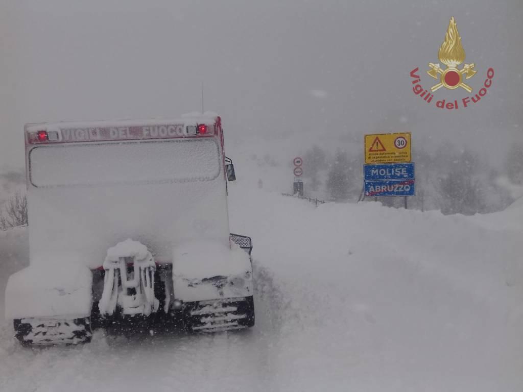 vigili del fuoco Isernia neve 2019