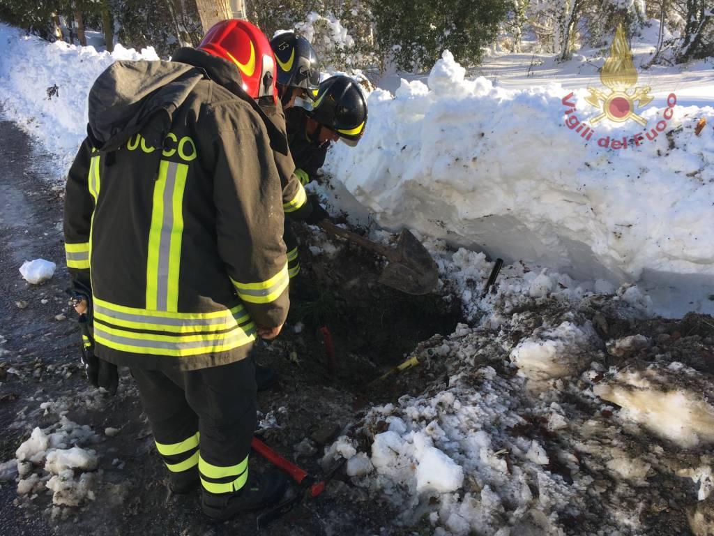 vigili del fuoco Isernia fuga di gas