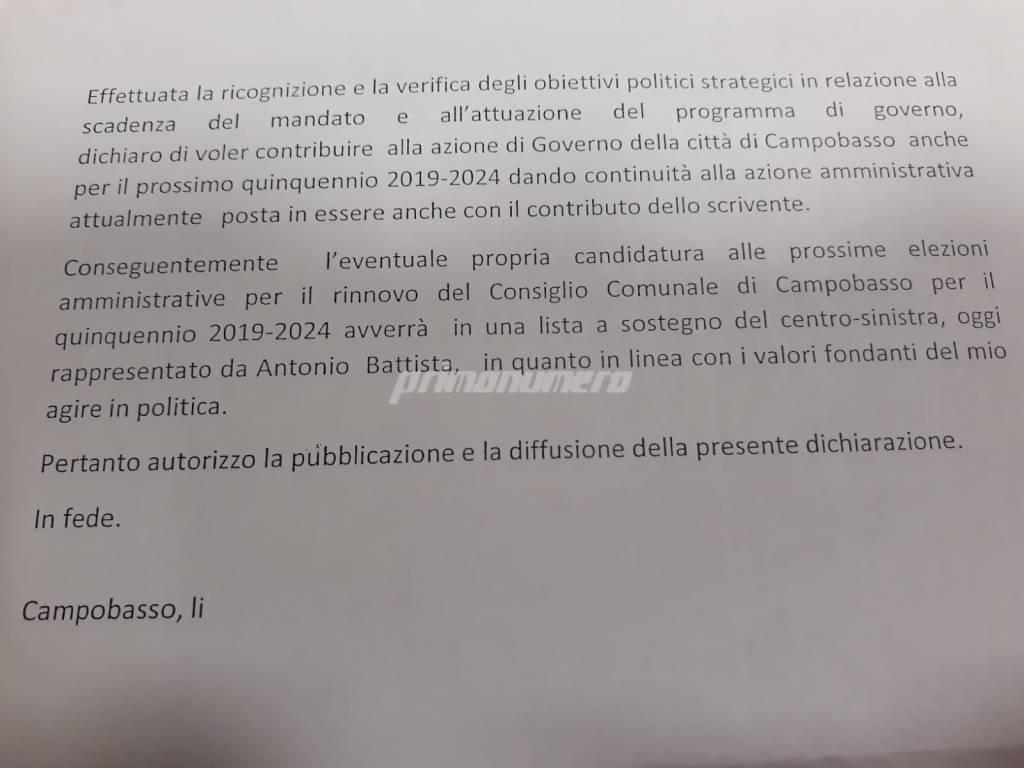 verbalino documento giunta Comune Campobasso