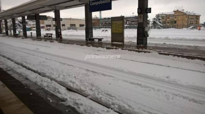 neve Campobasso stazione treno