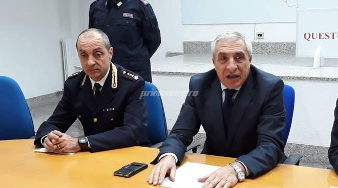 Polizia Campobasso questore Caggegi e Farinacci