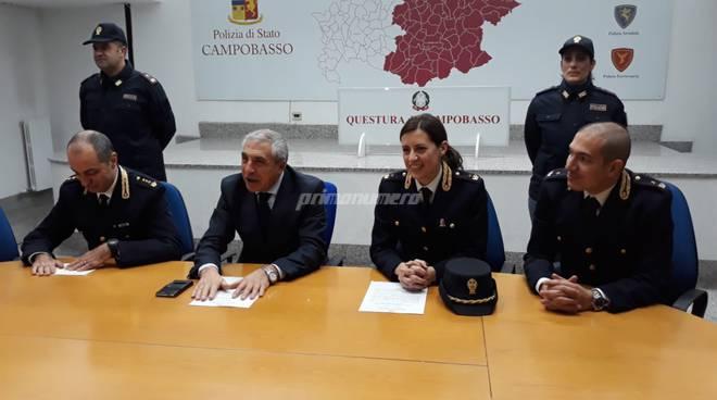 Polizia Campobasso questore Caggegi, Farinacci, Di Pasquale e Sabelli