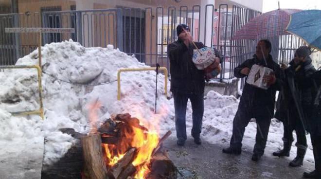 Incendio casa San Giovannello