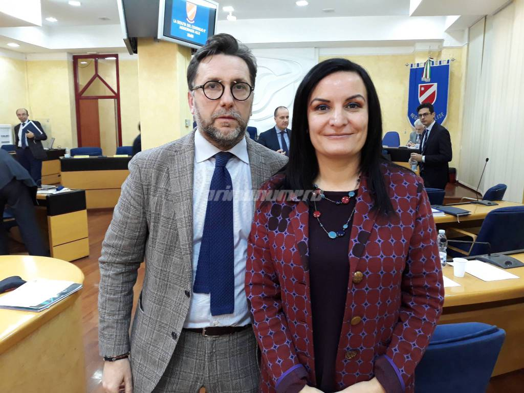 Micaela Fanelli e Vittorino Facciolla Consiglio regionale