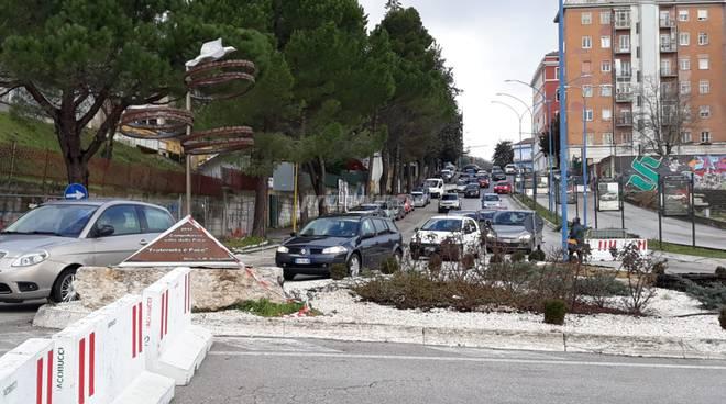 traffico in tilt Campobasso
