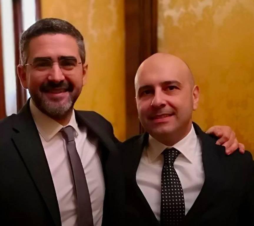 Ortis e ministro Fraccaro