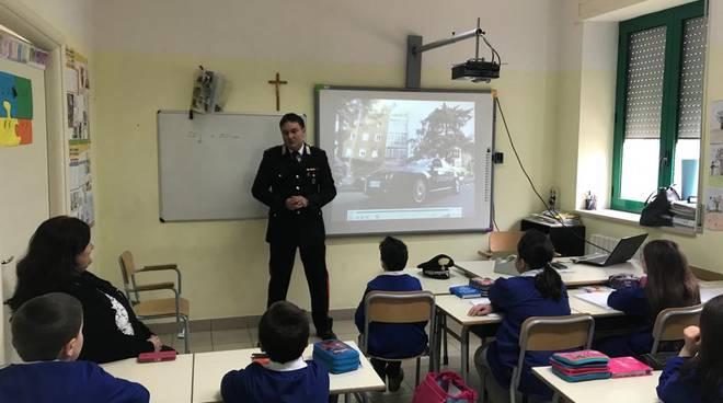 carabinieri a scuola a Guardiaregia