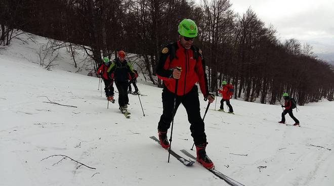 esercitazione soccorso alpino a Capracotta