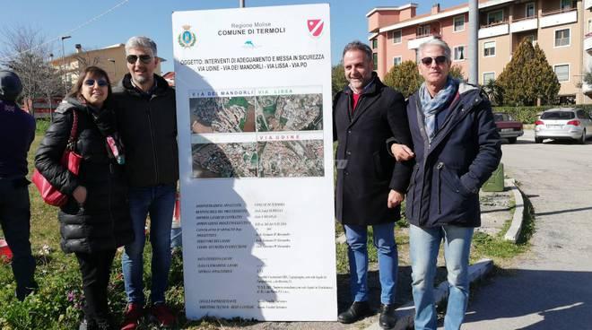via Udine, inizio lavori