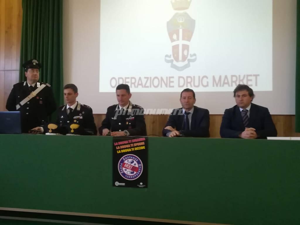 conferenza Carabinieri drug market