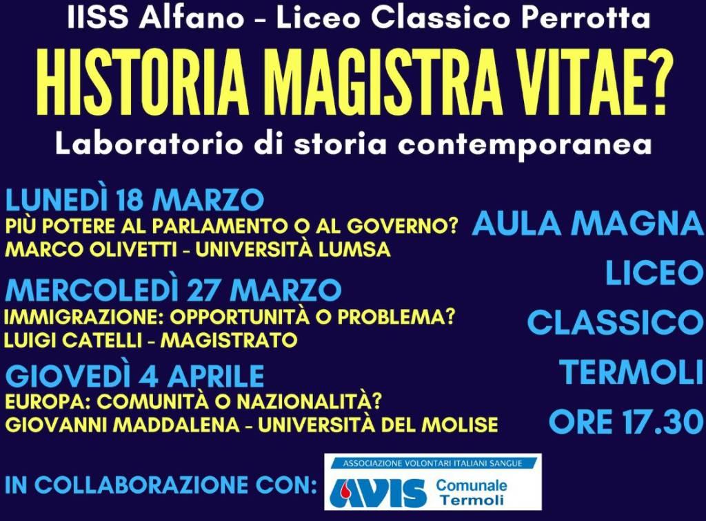 Programma laboratori storia contemporanea Alfano