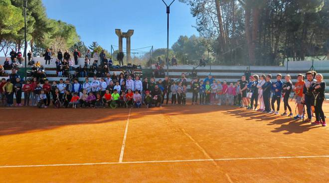 manifestazione tennis a Termoli