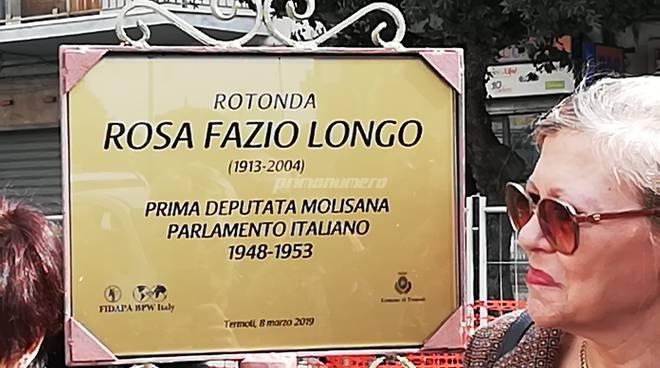 intitolazione rotonda a Rosa Fazio Longo
