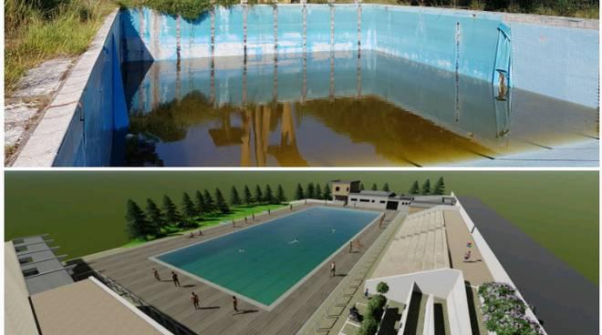 Piscina parco prima e dopo