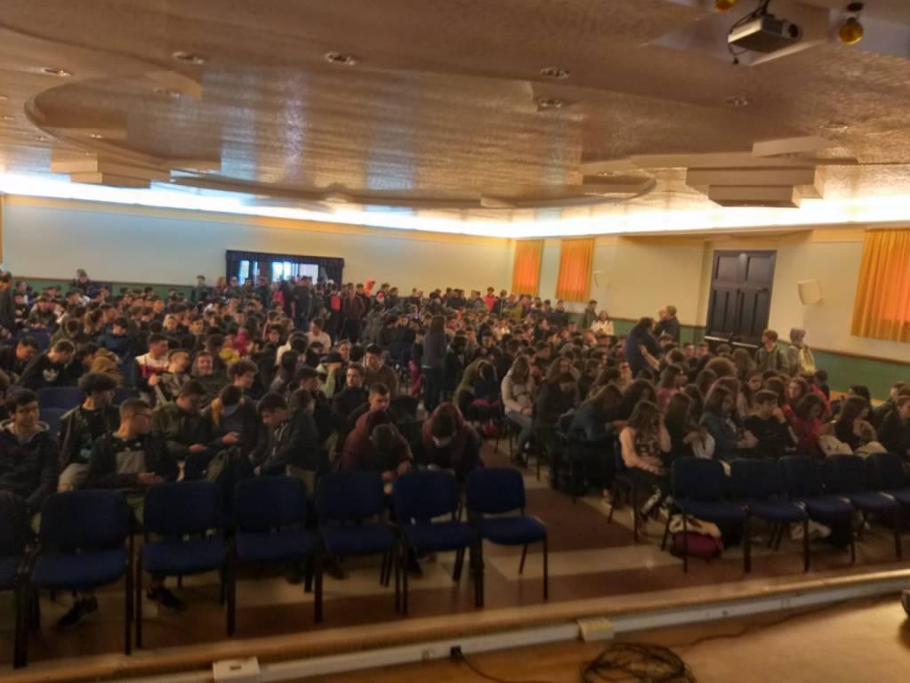 Studenti Majorana incontro con Curioni