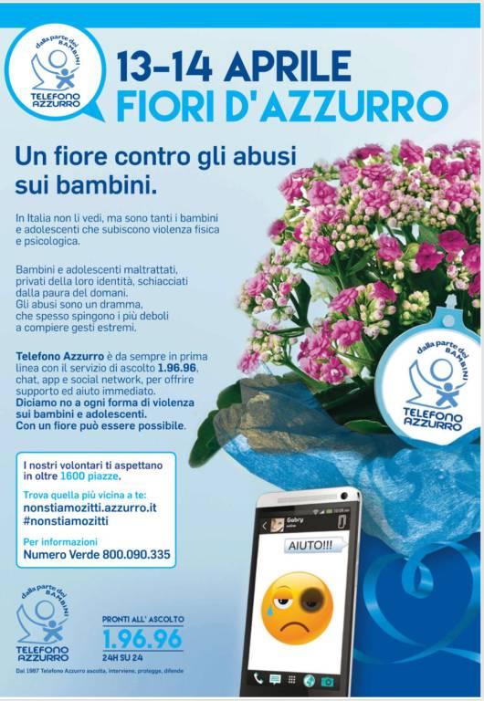 Telefono azzurro, fiori d'azzurro