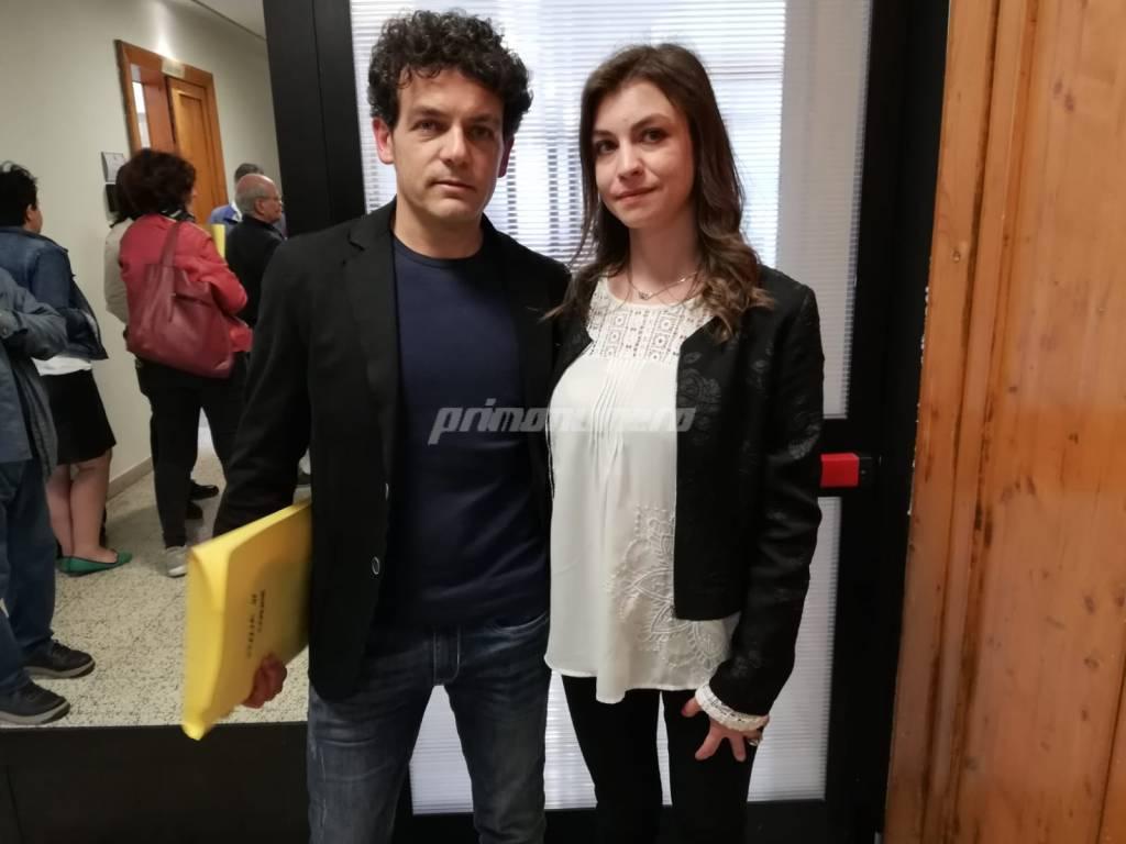 Giorgio De Luca e Luana Colombo di Italia in Comune